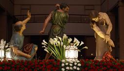 Procesión extraordinaria en Logroño con motivo del 50 aniversario de la Cofradía de la Flagelación de Jesús de Logroño.